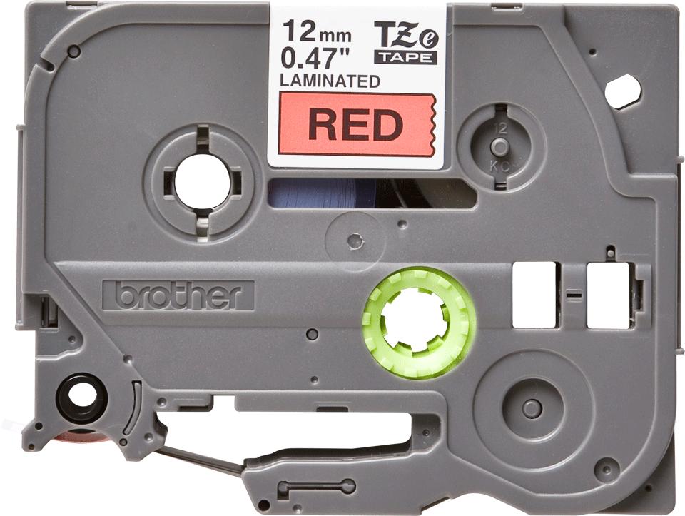 Alkuperäinen Brother TZe431 -tarranauha – musta teksti punaisella pohjalla, 12 mm