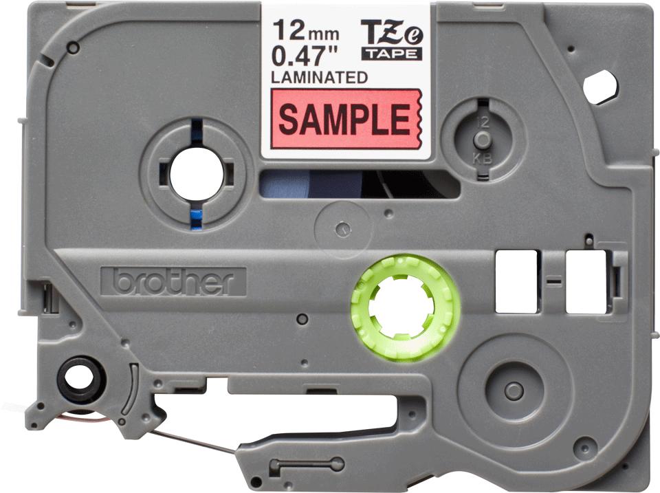 Alkuperäinen Brother TZe431S -tarranauha - musta teksti punaisella pohjalla, 12 mm  2