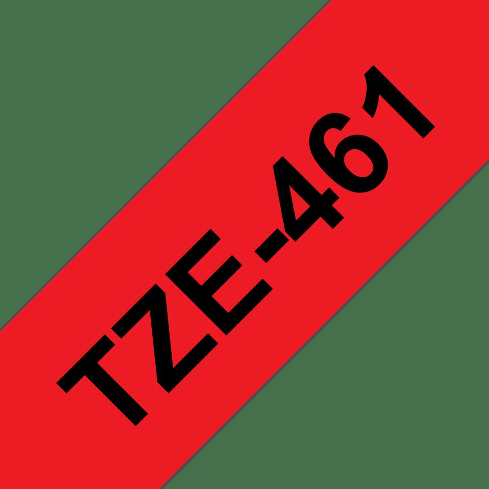 Alkuperäinen Brother TZe461 -tarranauha – musta teksti punaisella pohjalla, 36 mm