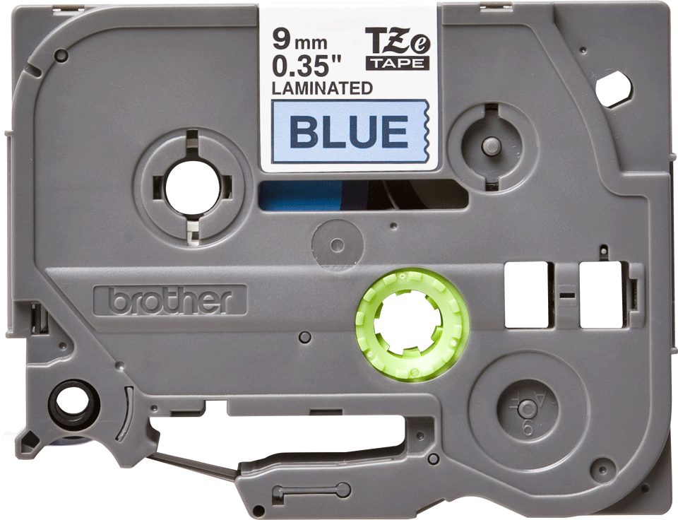 Alkuperäinen Brother TZe521 -tarranauha – musta teksti sinisellä pohjalla, 9 mm 2