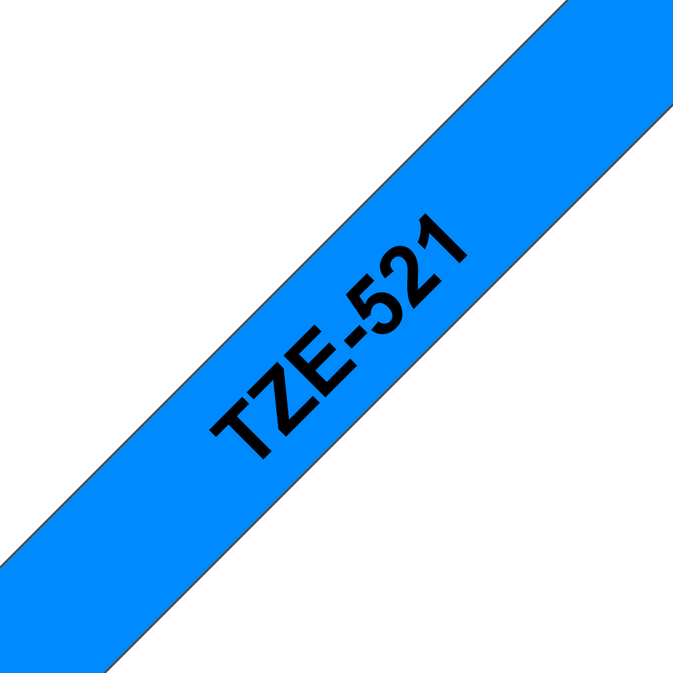 Alkuperäinen Brother TZe521 -tarranauha – musta teksti sinisellä pohjalla, 9 mm