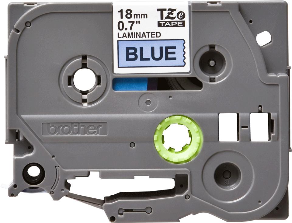 Alkuperäinen Brother TZe541 -tarranauha – musta teksti sinisellä pohjalla, leveys 18 mm