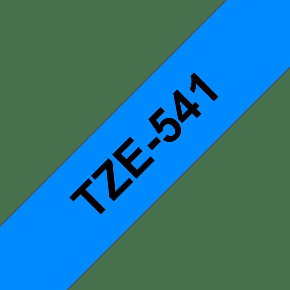 Alkuperäinen Brother TZe541 -tarranauha – musta teksti sinisellä pohjalla, leveys 18 mm 3