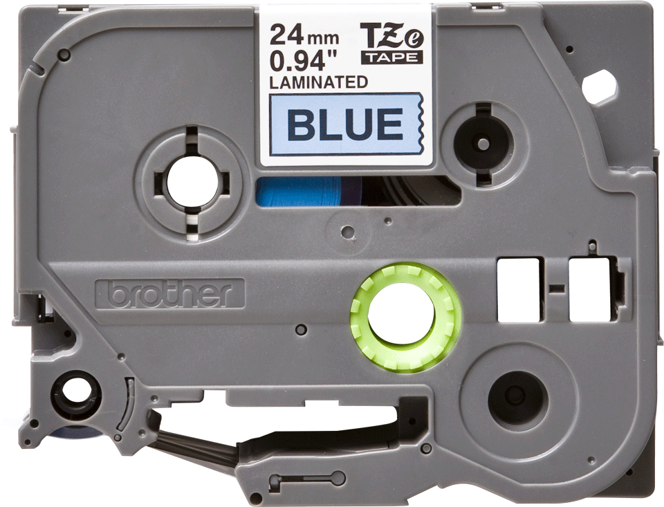Alkuperäinen Brother TZe551 -tarranauha – musta teksti sinisellä pohjalla, leveys 24 mm