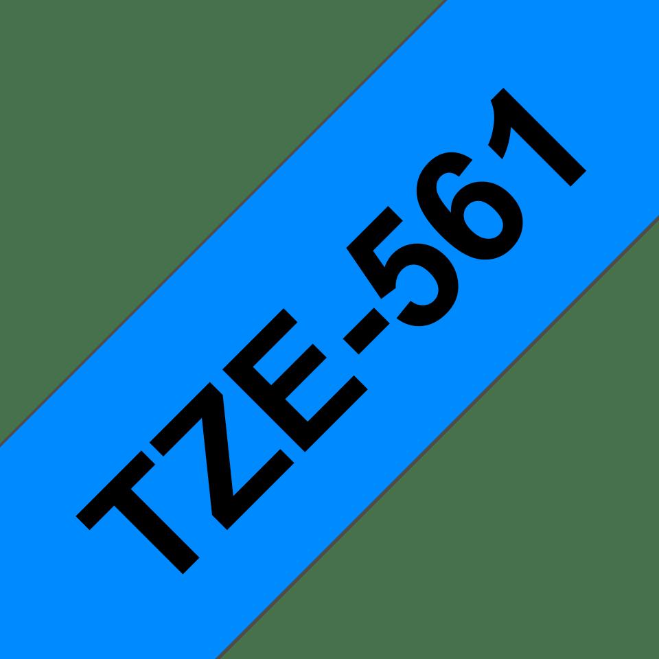 Alkuperäinen Brother TZe561 -tarranauha – musta teksti sinisellä pohjalla, 36 mm