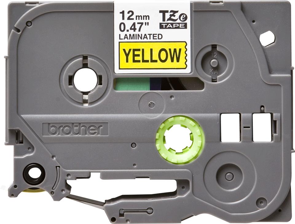 Alkuperäinen Brother TZe631 -tarranauha – musta teksti keltaisella pohjalla, 12 mm 2