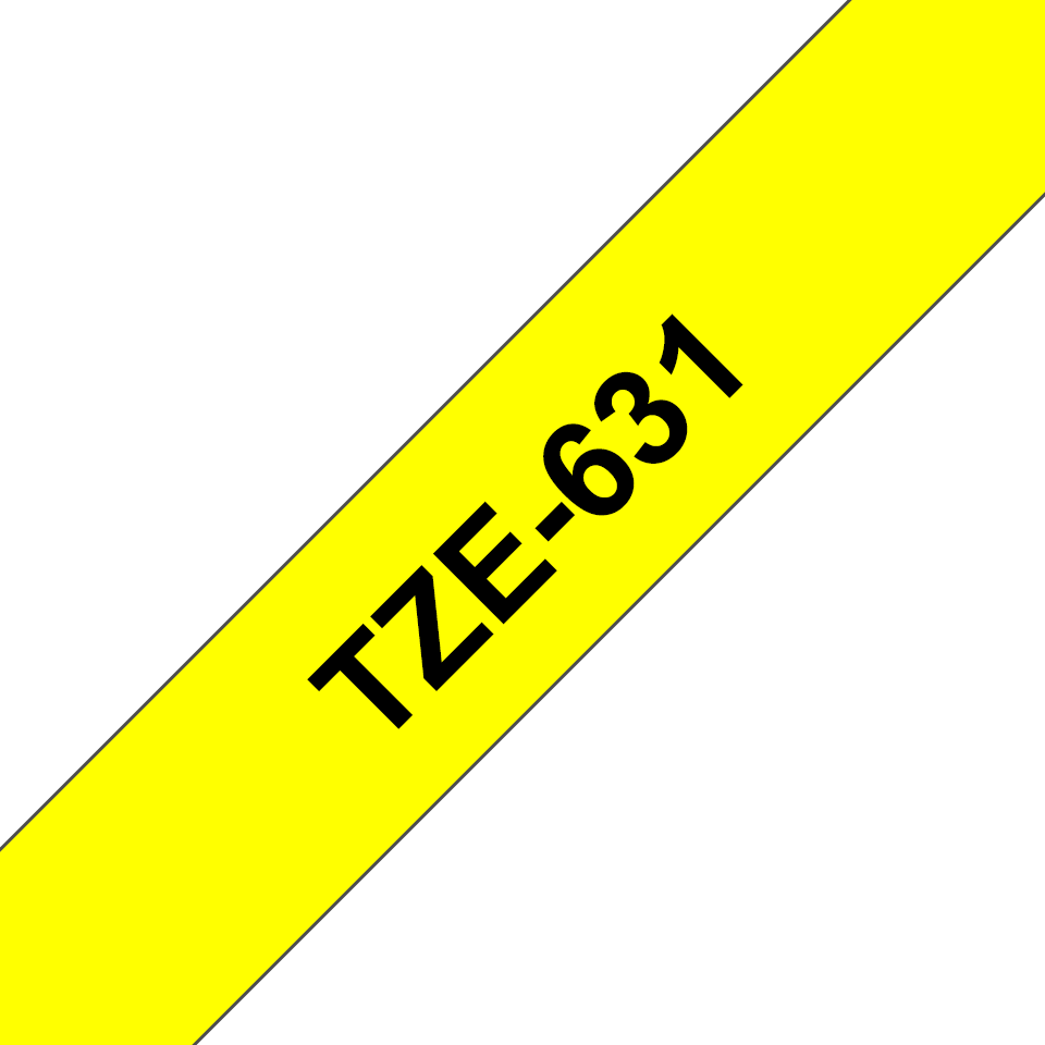 Alkuperäinen Brother TZe631 -tarranauha – musta teksti keltaisella pohjalla, 12 mm 3