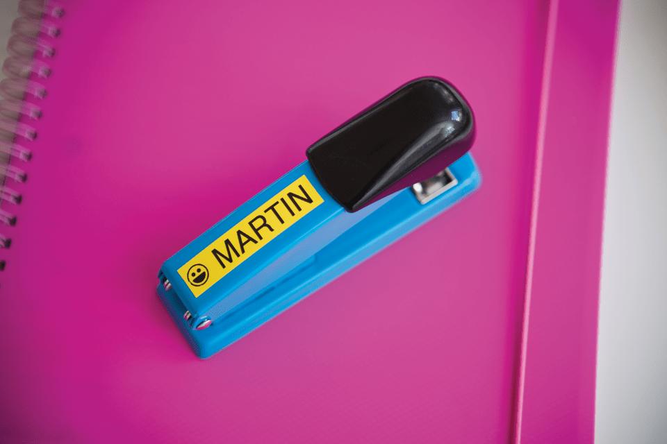 Alkuperäinen Brother TZe641 -tarranauha – musta teksti keltaisella pohjalla, 18 mm  4