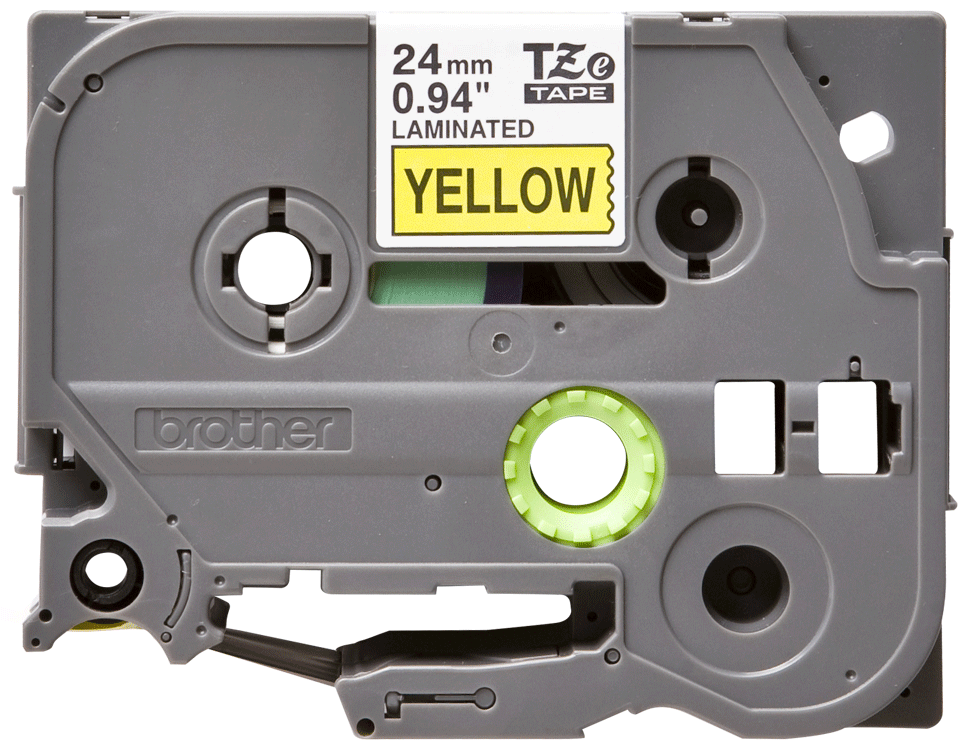 Alkuperäinen Brother TZe651 -tarranauha – musta teksti keltaisella pohjalla, 24 mm 2