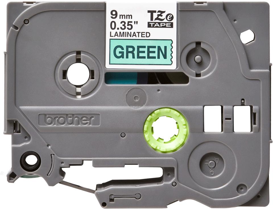 Alkuperäinen Brother TZe721 -tarranauha – musta teksti vihreällä pohjalla, 9 mm 2
