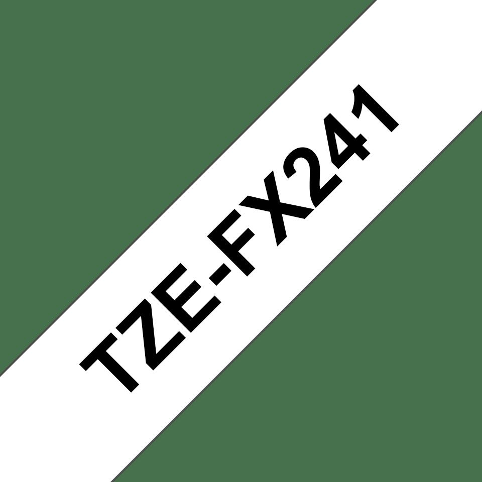 Alkuperäinen Brother TZeFX241 -taipuisa tarranauha – musta teksti valkoisella pohjalla,  18 mm