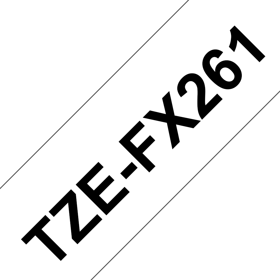 Alkuperäinen Brother TZeFX261 -taipuisa tarranauha – musta teksti valkoisella pohjalla, 36 mm