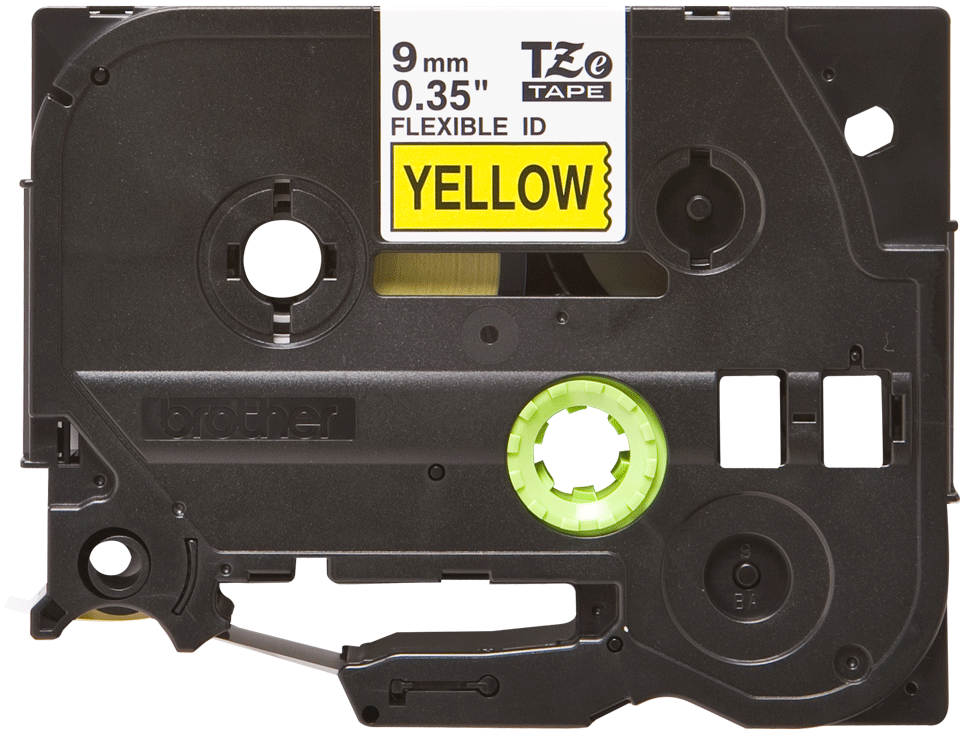 Alkuperäinen Brother TZeFX621 -taipuisa tarranauha – musta teksti keltaisella pohjalla, 9 mm 2