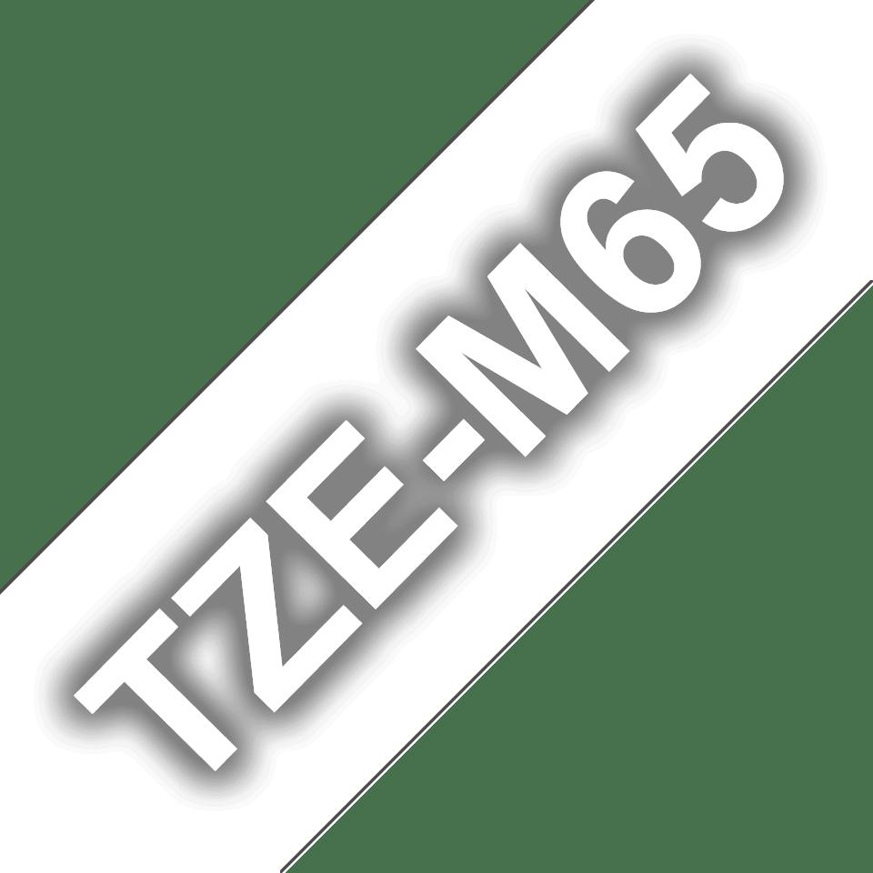 Alkuperäinen Brother TZeM65 -tarranauha – valkoinen teksti, kirkas mattapohja, 36 mm 3