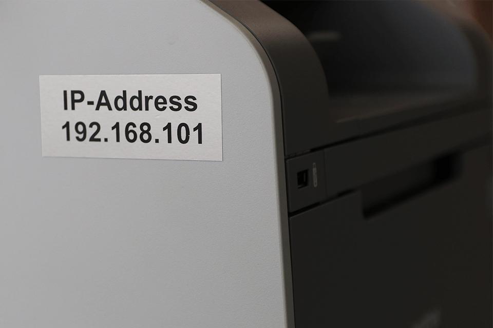 Alkuperäinen Brother TZeM961 -mattametallitarra – musta teksti mattahopealla pohjalla, 36 mm 4