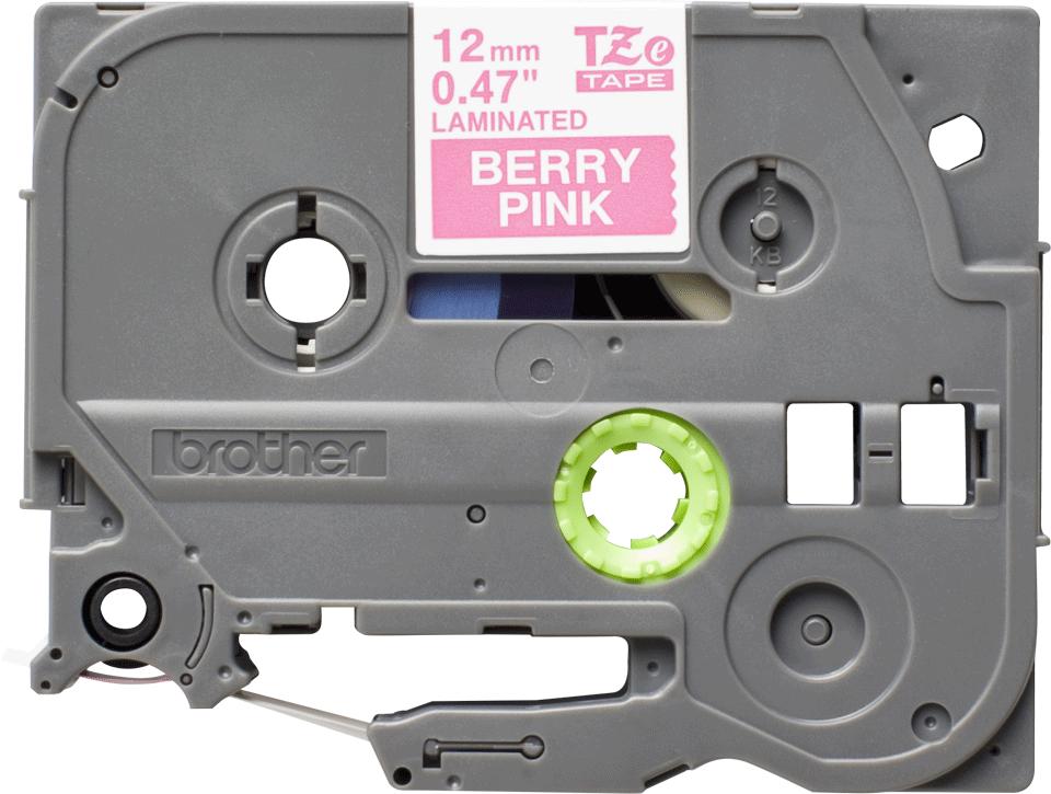 Alkuperäinen Brother TZe-MQP35 tarranauha – valkoinen teksti pinkillä pohjalla, 12 mm 2