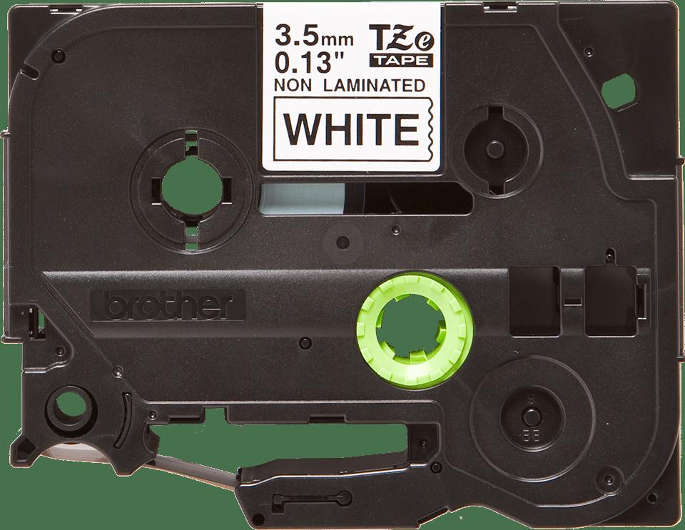 Alkuperäinen Brother TZeN201 -tarranauha – musta teksti valkoisella pohjalla, 3,5 mm 2