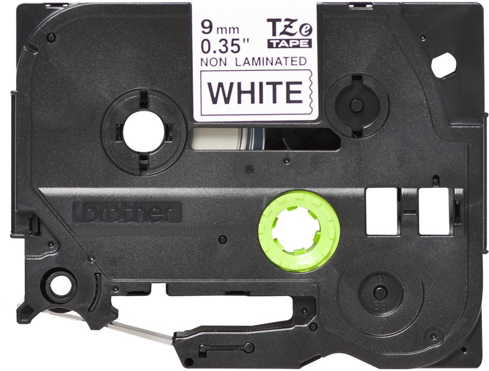 Alkuperäinen Brother TZeN221 -tarranauha – musta teksti valkoisella pohjalla, leveys 9 mm
