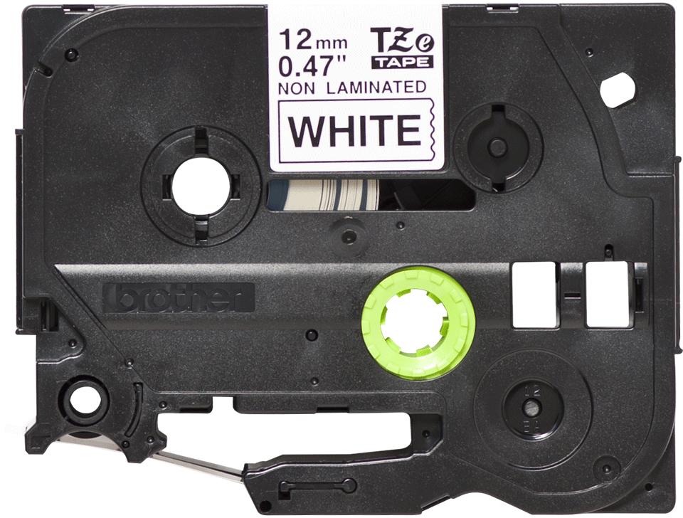 Alkuperäinen Brother TZeN231 -tarranauha – musta teksti valkoisella pohjalla, 12 mm.  2
