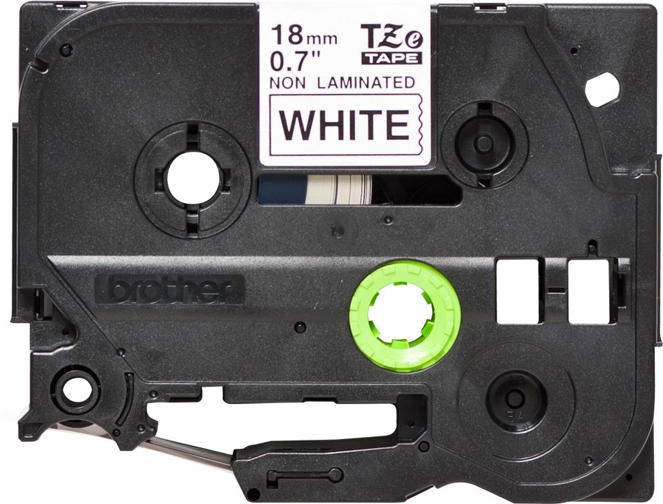 Alkuperäinen Brother TZeN241 -tarranauha – musta teksti valkoisella pohjalla, leveys 18 mm