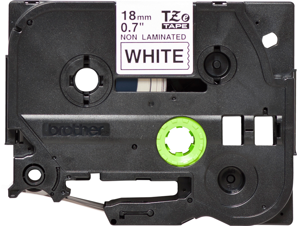 Alkuperäinen Brother TZeN241 -tarranauha – musta teksti valkoisella pohjalla, 18 mm 2