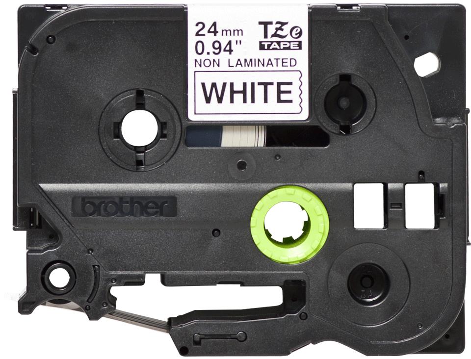 Alkuperäinen Brother TZeN251 -tarranauha – musta teksti valkoisella pohjalla, 24 mm 2