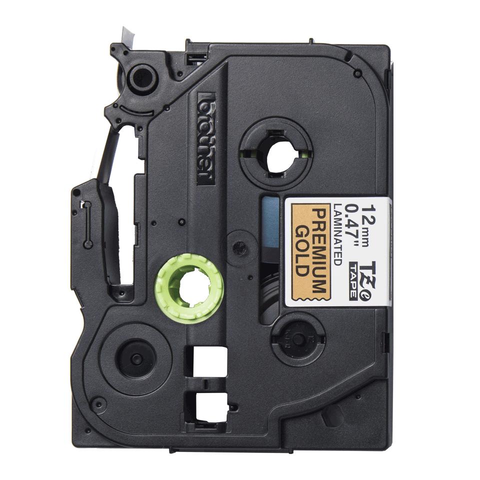Alkuperäinen Brother TZePR831 -premium tarranauha – musta teksti kullanvärisellä pohjalla, 12 mm 2