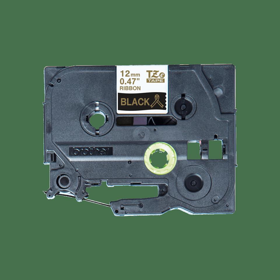 Alkuperäinen Brother TZeR334-satiininauha - kullanvärinen teksti mustalla nauhalla, 12 mm  4