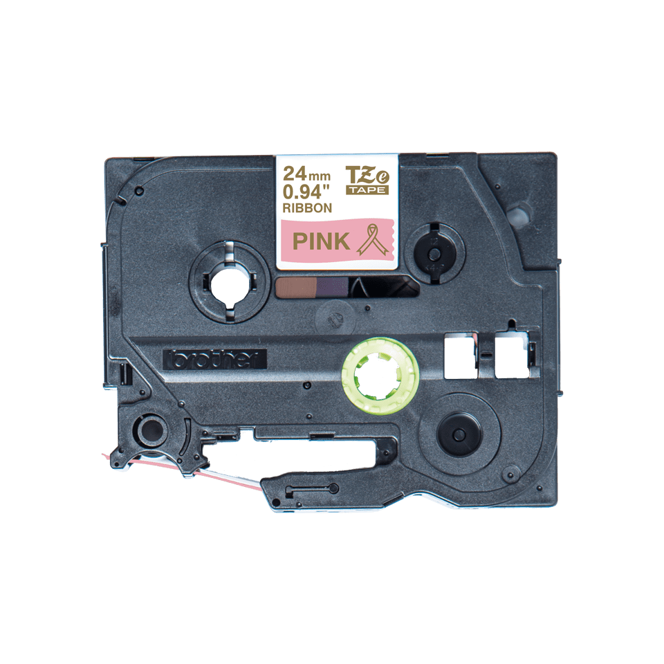 Alkuperäinen Brother TZeRE54 -satiininauha – kullanvärinen teksti pinkillä nauhalla, 24 mm 4