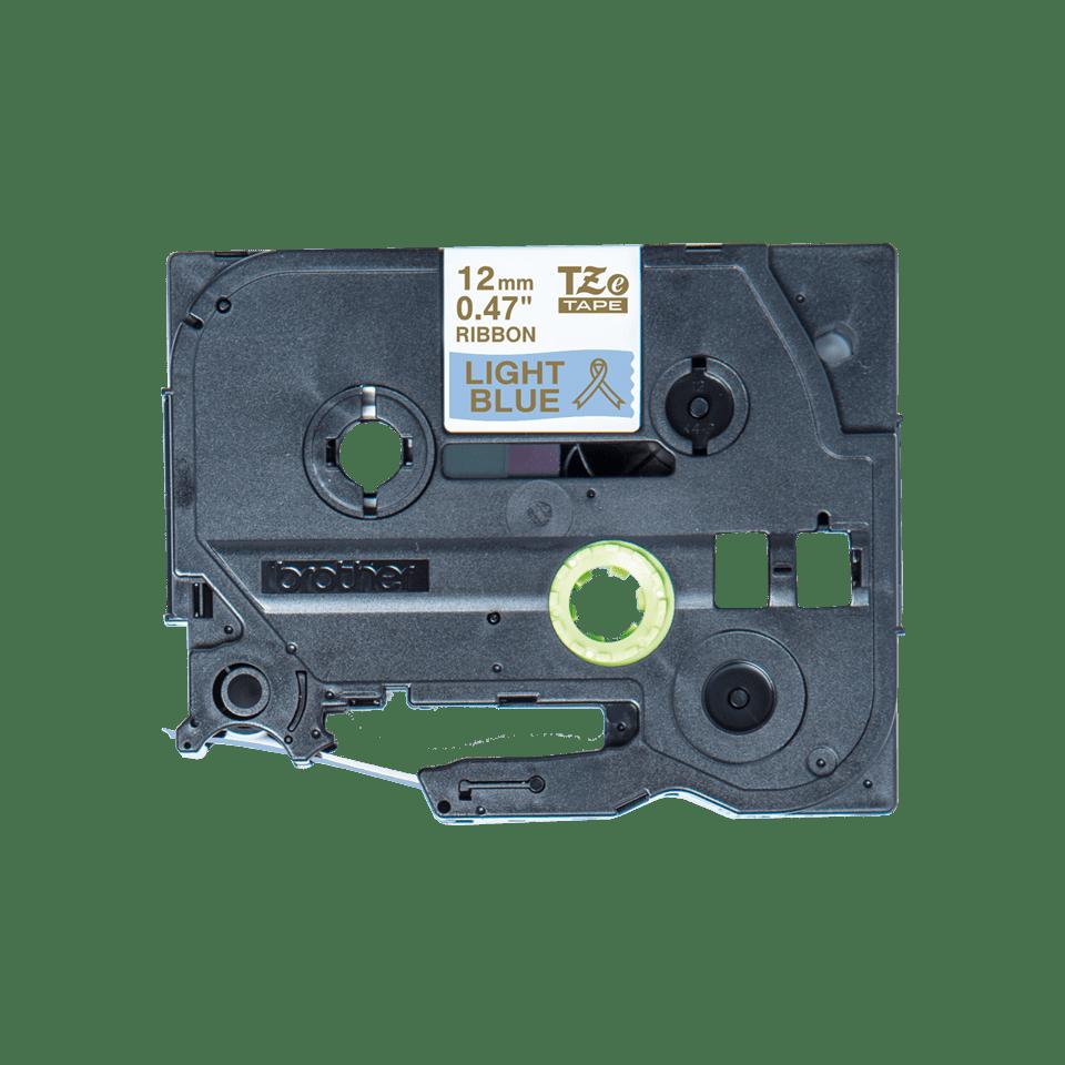 Alkuperäinen Brother TZeRL34 -satiininauha – kullanvärinen teksti vaaleansinisellä nauhalla, 12 mm 3