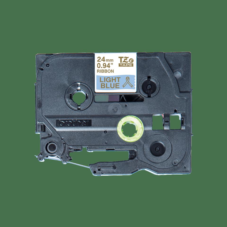 Alkuperäinen Brother TZeRL54 -satiininauha - kullanvärinen teksti vaaleansinisellä nauhalla, 24 mm 5