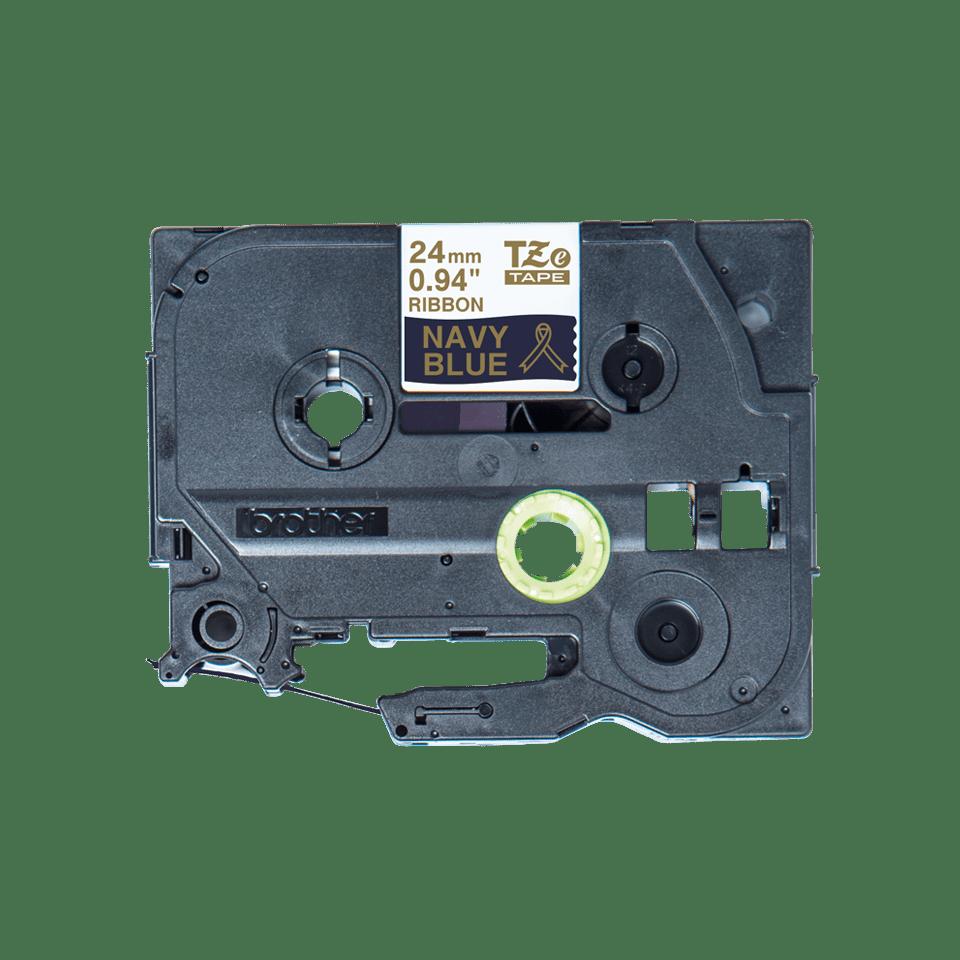 Alkuperäinen Brother TZeRN54 -satiininauha – kullanvärinen teksti laivastonsinisellä nauhalla, 24 mm 5