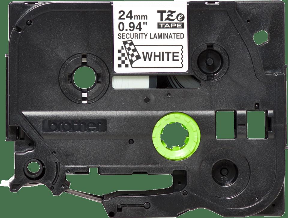 Alkuperäinen Brother TZeSE5-turvatarra – Musta teksti valkoisella pohjalla, 24 mm 3